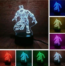 Black Panther T'Challa Action Figure 3D Table Lamp - Technology - Njadaka