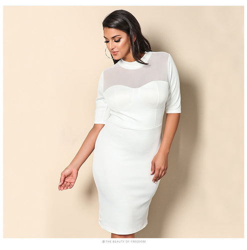 Shuri Styled White Dress for Beautiful Bodacious Bodies - Women - Njadaka