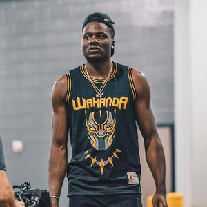 Black Panther Wakanda T'Challa Killmonger Basketball Jersey - Adult and Children Sizes - Njadaka