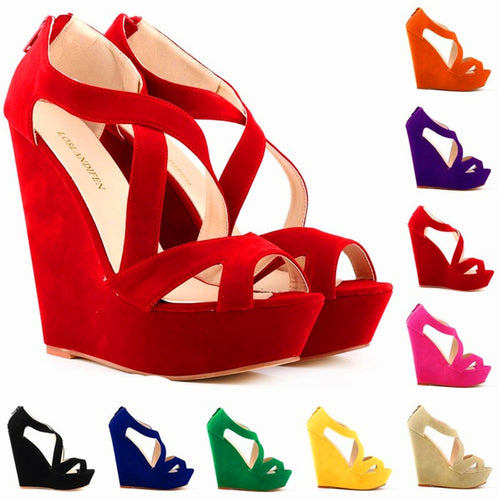 Danai Wedge Shoes for the Summer - 9 Colors - Njadaka