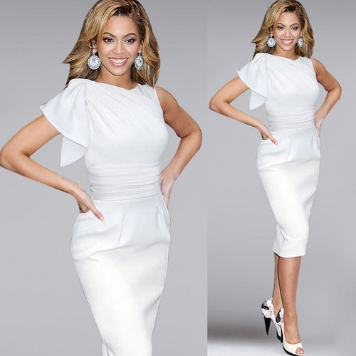 Queen Bee White Dress - up to  5XL - 5 Colors