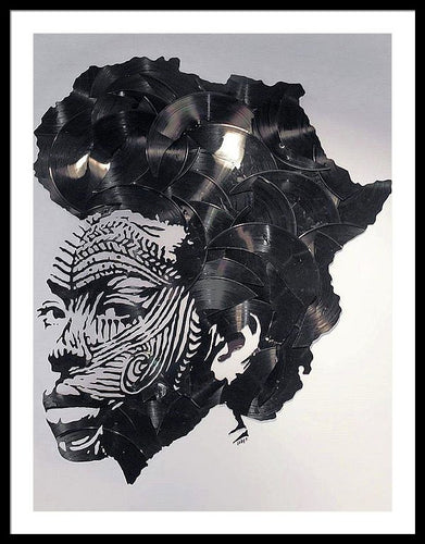 Record Hair - Framed Print - Njadaka