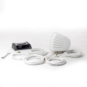 Antenna for Cradlepoint IBR900 IBR1100 & Sierra Wireless GX450. White 5-in-1 Roof Mount with GPS + MiMo LTE + MiMo WiFi