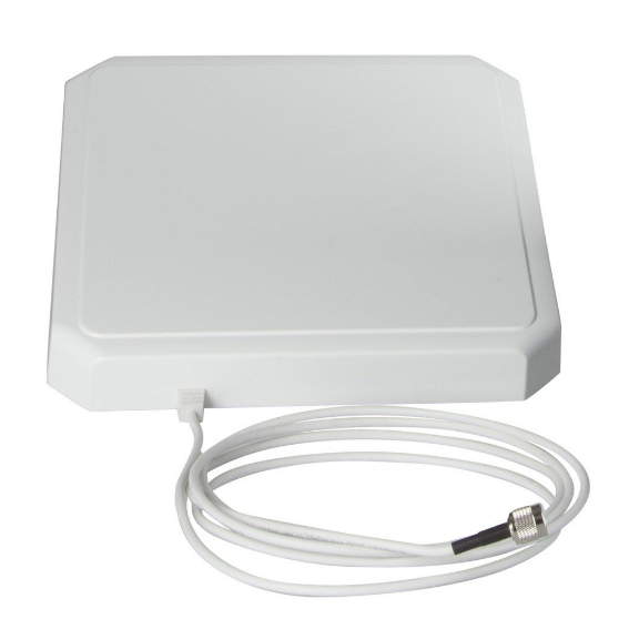 10x10 inch IP54 LHCP Antenna for FCC RFID Readers: Impinj R420 & Zebra FX7500