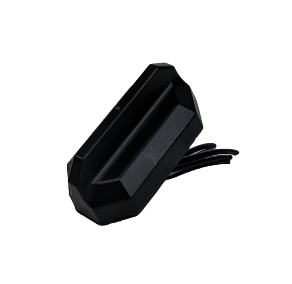 4-in-1 Black Multi-Band Antenna with 1 x WiFi, 1 x GNSS, and 2 x 3G/4G/LTE