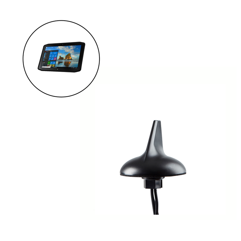 External Antenna for XPLORE XSLATE R12 Vehicle Mounted Tablet, SharkFin 3-in-1 LTE WiFi GPS, Direct Mount