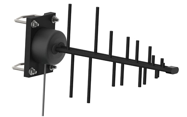 5G/4G/LTE Band 71, CBRS Outdoor/Heavy duty Cellular Wideband Yagi Antenna, 9 Elements, 600-6000 MHz Directional Antenna