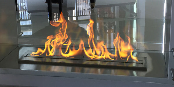 Close up of natural dancing flames from Bio Ethanol fireplace by The Bio Flame