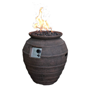 "Elementi ""Pompeii"" Fire Pot - Crackle Fireplaces"