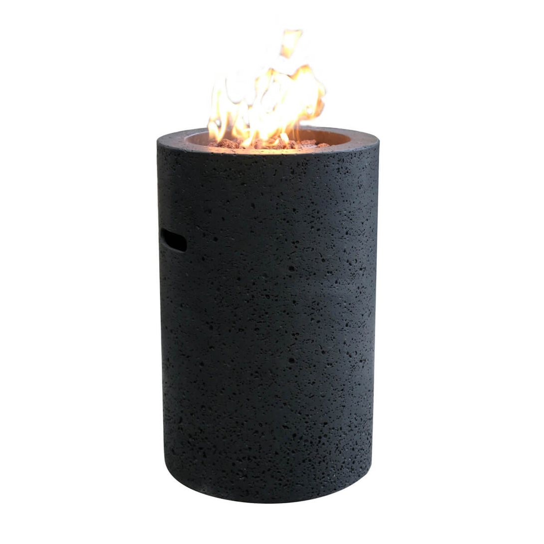 Small cylindrical lava rock fire pit