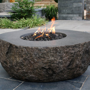 "Elementi ""Boulder"" Fire Table - Crackle Fireplaces"