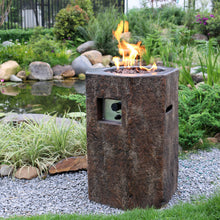 "Elementi ""Basalt Column"" Fire Pit - Crackle Fireplaces"