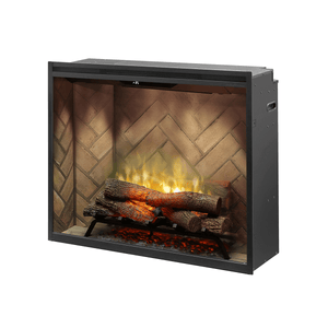 "Dimplex Revillusion 36"" Portrait Built-In Electric Log Firebox - Crackle Fireplaces"