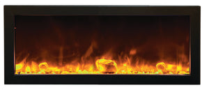 "Amantii Panorama SLIM 40"" Built-in Electric Fireplace - Crackle Fireplaces"