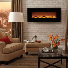 "Touchstone 50"" Onyx Wall Mounted Fireplace - Crackle Fireplaces"