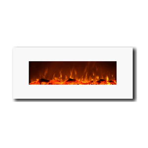 "Touchstone 50"" Ivory Wall Mounted Fireplace - Crackle Fireplaces"