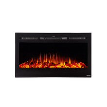"Touchstone 36"" Sideline Recessed Fireplace - Crackle Fireplaces"