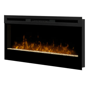 "Dimplex Wickson 34"" Linear Electric Fireplace - Crackle Fireplaces"
