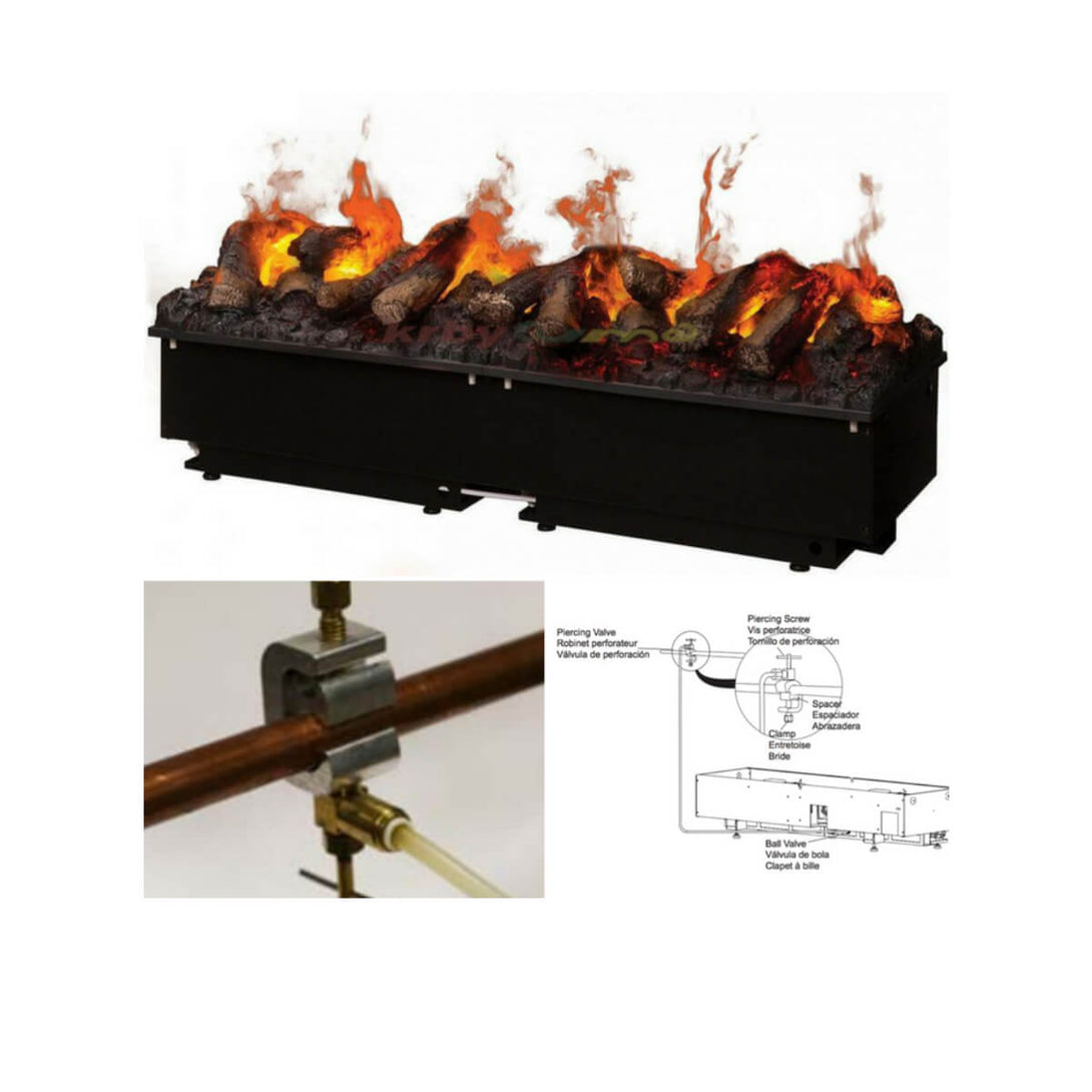Optional Plumbing Kit for Dimplex Opti-myst Pro Units - Crackle Fireplaces