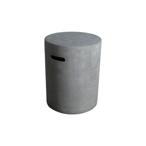 Elementi Cylindrical Concrete Propane Tank Cover - Crackle Fireplaces