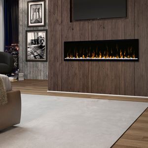 "Dimplex Ignite XL 60"" Built-in Linear Electric Fireplace - Crackle Fireplaces"