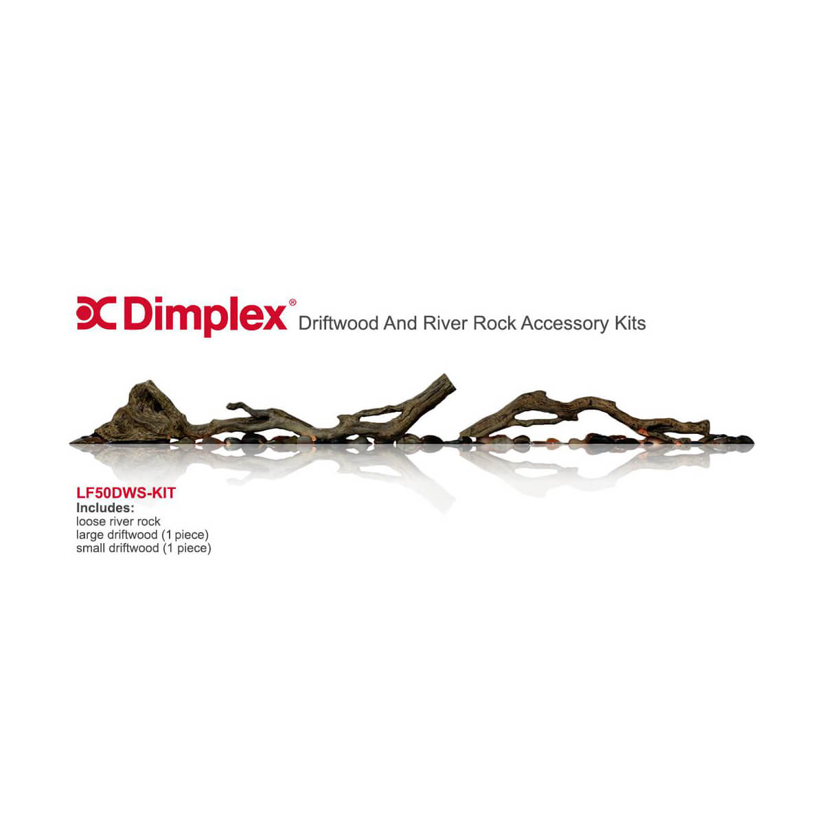 Dimplex Driftwood & River Rock Accessory Kit for 50