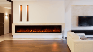 "Modern Flames 100"" Landscape FullView 2 Built-in Electric Fireplace - Crackle Fireplaces"