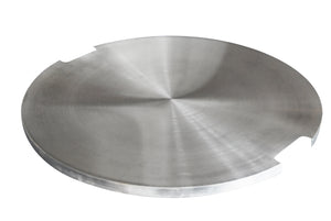 "Elementi ""Bouler"" Fire Table Stainless Steel Lid - Crackle Fireplaces"
