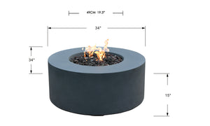 "Elementi/Modeno ""Venice"" Fire Table- Natural Gas"