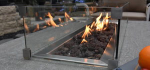 Elementi Wind Screen For Granville Fire Table - Crackle Fireplaces