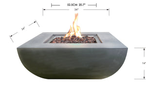 "Elementi/Modeno ""Westport"" Fire Table- Natural Gas"