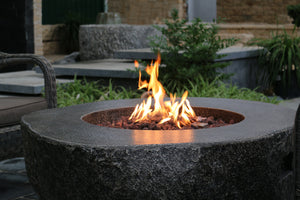 "Elementi ""Fiery Rock"" Fire Table- Natural Gas - Crackle Fireplaces"