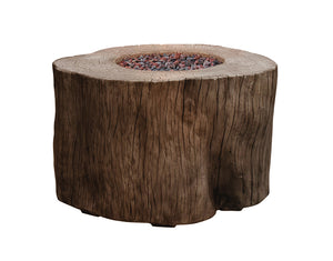 "Elementi ""Warren"" Fire Table Red Wood- Propane - Crackle Fireplaces"