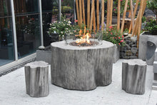 "Elementi ""Warren"" Fire Table Classic Grey - Propane - Crackle Fireplaces"