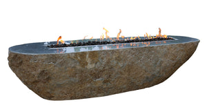 "Elementi ""Bethlehem"" Granite Boulder Fire Table- Natural Gas"
