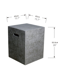 Elementi Propane Tank Cover For Manhattan and Metropolis Fire Tables - Crackle Fireplaces