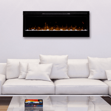 "Dimplex Prism 50"" Wall Mounted Linear Electric Fireplace - Crackle Fireplaces"