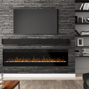 "Dimplex Prism 74"" Wall Mounted Linear Electric Fireplace - Crackle Fireplaces"