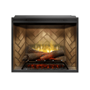 "Dimplex Revillusion 30"" Built-In Electric Log Firebox - Crackle Fireplaces"