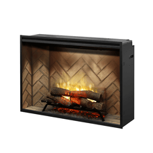 "Dimplex Revillusion 42"" Built-In Electric Log Firebox - Crackle Fireplaces"