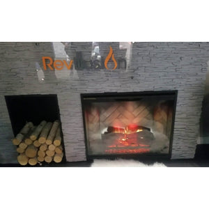 "Solid Glass Front for Dimplex Revillusion 36"" - Crackle Fireplaces"