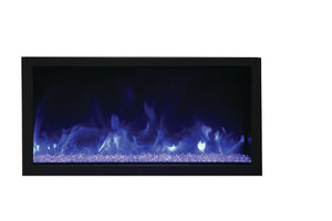 Remi 45″ Wide & Extra Tall Indoor or Outdoor Electric Fireplace - Crackle Fireplaces