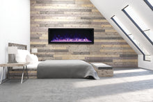 Remi 65″ Wide & Extra Tall Indoor or Outdoor Built-in only Electric Fireplace - Crackle Fireplaces