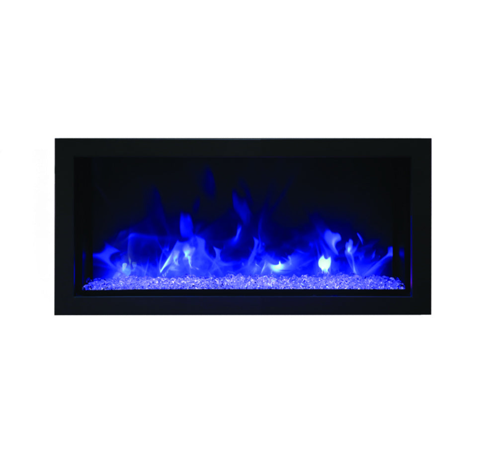 Remi 35″ Wide & Extra Slim Indoor or Outdoor Built-in only Electric Fireplace - Crackle Fireplaces