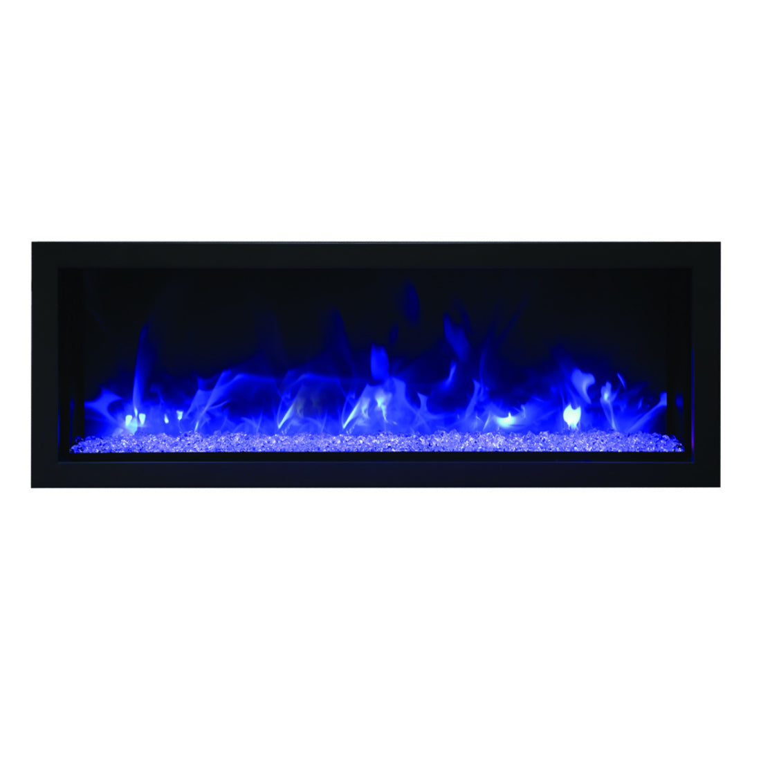 Remi 45″ Wide & Extra Slim Indoor or Outdoor Built-in only Electric Fireplace - Crackle Fireplaces