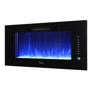 "Caesar Fireplace 30"" Electric Fireplace - Crackle Fireplaces"