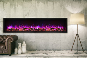 "Amantii SYM 88"" XT Electric Fireplace - Crackle Fireplaces"