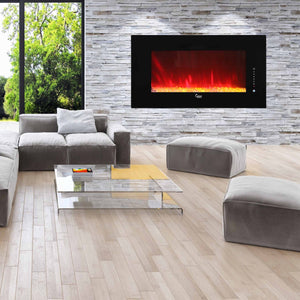 "Caesar Fireplace 50"" Electric Fireplace - Crackle Fireplaces"
