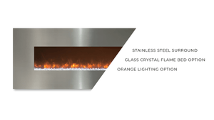 "Modern Flames 144"" Ambiance CLX2 Wall-Mounted Linear Electric Fireplace - Crackle Fireplaces"