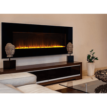 "Superior 54"" Wall Mounted Linear Electric Fireplace - Crackle Fireplaces"
